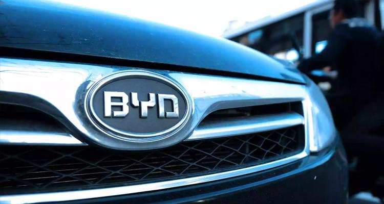 比亚迪启用新LOGO,但目前仅用于乘用车市场