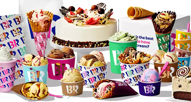 大型连锁冰淇淋店Baskin Robbins更新LOGO